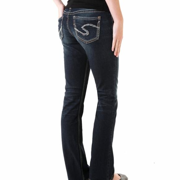 Silver Jeans Suki Bootcut Dark Wash Y2K Western